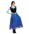 Xmas Adult Frozen DELUXE Anna Fancy Dress Gown Snow Queen Costume Christmas^^
