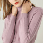 Winter Women's Slim Knitted Turtleneck Cashmere Long Sleeve Jumpers Sweaters