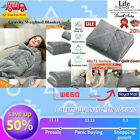Weighted Gravity Blanket Heavy Sensory Kids Adult Sleep Reduce Anxiety Comfortab image