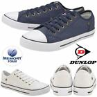 Ladies Dunlop Flat Lace Up Canvas Plimsolls Trainers Pumps Memory Foam Shoes
