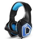 LED Headphones Noise Cancelling Earphones + Mic for PS4 PC Xbox Gaming Headset