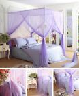 Purple 4 Corners Post Bed Canopy Curtain Mosquito Net Or Frame Post image