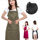 Adjustable Women Men Cooking Chef Kitchen Restaurant BBQ Bib Apron Dress Pocket