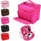 Large multiplepockets Cosmetic Case Makeup Bag Storage Handle Organizer Travel