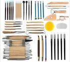 Wooden Handle Clay Sculpting Tools Set Ceramics Pottery Arts Crafts Carving Set image
