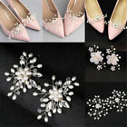 Pearl Shoe Clip Wedding Shoe Decorations Charm Buckle Shiny Decorative Clips