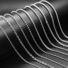 9 Styles Men Women Silver Stainless Steel Snake Keel Link Chain Necklace 50-60cm