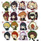 Anime Danganronpa Rubber Keychain Key Ring straps cosplay