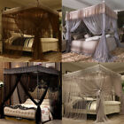 4 Corners Bed Canopy Curtain Mosquito Net Or Frame Post Twin Full Queen King  image