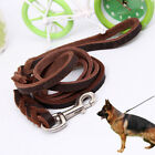 Braided Leather Dog Lead Training Dog Leash Best for German Shepherd Well Made