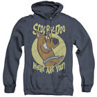 Scooby Doo Heather Hoodie Where Are You Navy Hoody