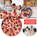 "Tortilla Blanket Burrito Flanne Round Corn & Pizaa Fleece Blanket 60"" Soft Towel"