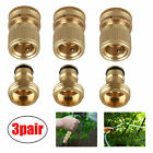 """3/4"""" Garden Water Hose Quick Connector Fit Brass Male Female Connect Fitting New"""