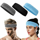 Unisex Women Men Stretch Headband Sport Sweat Sweatband Yoga Gym Hair Head Band
