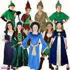 Boys Girls Robin Hood Maid Marion World Book Day Medieval Fancy Dress Costume