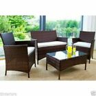 RATTAN GARDEN FURNITURE 3 SEATER WICKER SOFA CLEARANCE PRICE OUTDOOR PATIO