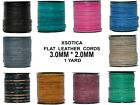 Xsotica  Genuine Flat Leather Cord - 3mm X 2mm -1 Yard