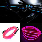UK Car Interior Atmosphere Glow EL Wire Neon String Strip Lights Rope Tube Lamp