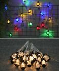 Outdoor String Light Vintage Retro Water Oil Lamp 20/30/40 LED Home Garden Decor