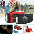 Solar Wind Up Hand Crank 3 LED Flashlight Black Emergency Dynamo AM/FM/WB Radio