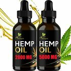 Premium Hemp Oil Drops Organic Pain Relief Stress Anxiety Sleep VARIATION
