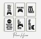 Gaming Prints for Kids Bedroom Picture Wall *OFFER 3 for 2 PlayStation Xbox