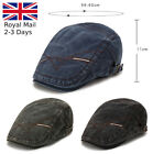 Mens Denim Ivy Hat Cotton Newsboy Gatsby Cap Golf Driving Flat Cabbie Beret Hat
