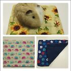 """Fleece potty pee pads- 11 by 13"""" pads for guinea pigs, ferrets, rats, hedgehogs"""