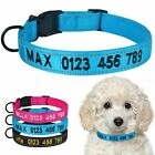 Adjustable Dog Collar Personalised Reflective Nylon Free Embroidered Name Number