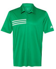 ADIDAS Mens 3 Stripe Chest DRI FIT GOLF Polo Sport Shirts Size S-4XL NEW A324