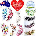 24 Piece 3d Butterfly Wall Stickers Removable Decals Magnet Kids Nursery Wedding