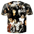 New Men/Women Michael Jackson 3D Print Casual T-Shirts Short Sleeve Tees Tops