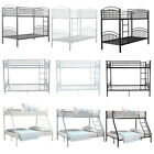 Twin/Triple Bunk Beds Metal Frame High Sleeper Children Kids Adults Beds