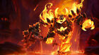Game WOW world of warcraft ragnaros fire Silk Fabric Poster[No frame]