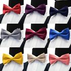 1 Pc Men's Solid Two Layer Pre-tied Bow Ties Bowtie for Wedding Party Business g