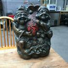 Copper Or Casting Engraving Ebisu Red Snapper Storage 46Cm Gao Yunzuo image