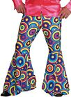 Mens 1960s 1970s Disco Flares Pants Flared Trousers Fancy Dress Costume Outfit
