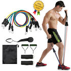 11pcs/set Pull Rope Fitness Exercises Resistance Bands Latex Tubes Pedal workout image