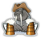 Walrus With Beer Mugs Car Bumper Sticker Decal  -  ''SIZES''