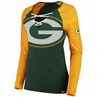 Green Bay Packers The Lace Up Long Sleeve Tee $50.99 USD on eBay