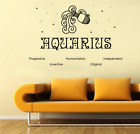 Horoscope Aquarius Traits Zodiac Wall Sticker Home Room Vinyl Art Decal Decor