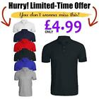 Mens Plain Polo Shirt Regular Casual Golf Shirt Pique Top T shirt Short Slv