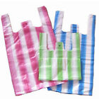 HD STRIPED VEST CARRIER BAGS SUPERMARKET STYLE HAWK JUMBO 12 x 18 x 24
