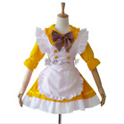 Japanese Anime Lolita Maid Dress Maid Apron Bowknot Skirt Waitress Dress Costume