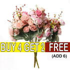 21heads Artificial Silk Small Flowers Rose Bunch Wedding Home Outdoor Decor Le
