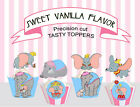 Dumbo Elephant mother birthday vintage Circus Party 15 Cupcake Toppers cup cake