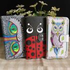 Marienkäfer Eule OWL Handy Tasche Schutz Flip Case Für Nokia Blackberry Phone, used for sale  Shipping to South Africa