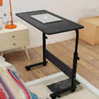 Portable Trolley Laptop Table Computer Desk Keyboard Tray Height Adjustable