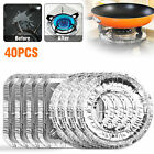 40pcs Aluminum Foil Square Gas Top Burner Disposable Bib Liners Stove Covers New