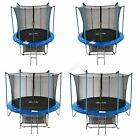 GALACTICA Trampoline Set 8 10 12 14 FT Round Outdoor Safety Net Enclosure Ladder
